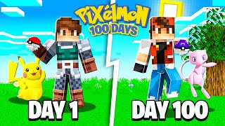 I SPENT 100 DAYS in MINECRAFT PIXELMON... Here's What Happened