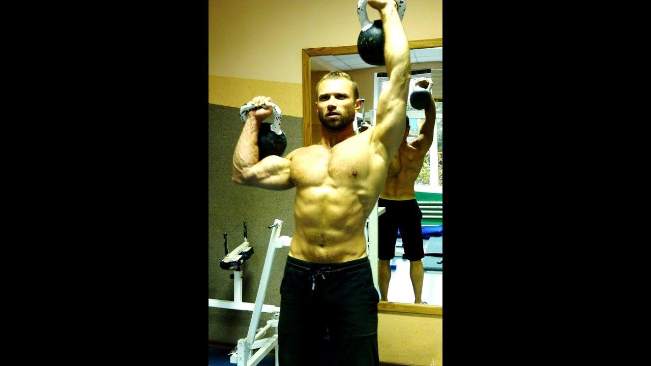 Упражнения с гирями. ГИРИ для силы и массы! - YouTube