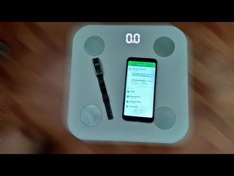 Умные фитнес весы Xiaomi Mi Scale 2. Измеряют жир, мышцы, воды в организме