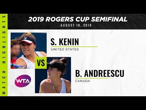 Sofia Kenin vs. Bianca Andreescu | 2019 Rogers Cup Semifinal | WTA Highlights