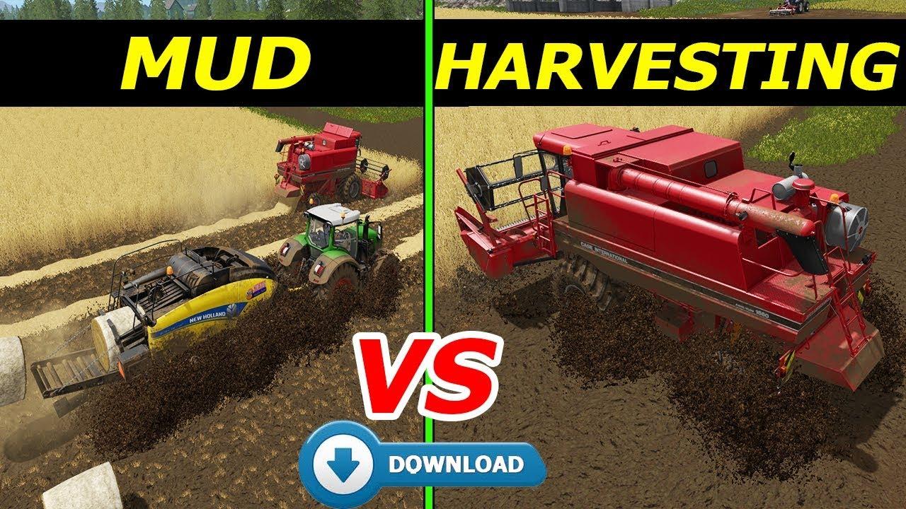 Farming Simulator 17: MUD vs HARVESTING | MUDDY GOLDCREST VALLEY MAP !!! +  Link