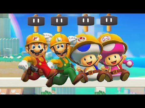 Super Mario Maker 2 - New Power-Up Super Hammer Gameplay