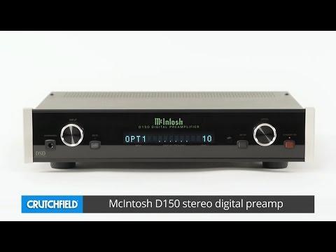 McIntosh D150 stereo digital preamp | Crutchfield video