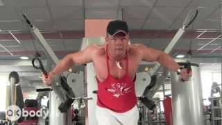 Упражнения для груди. Кроссовер(В видео рассматривается упражнение для для груди кроссовер на блоке. Это специализированное изолирующее..., 2013-02-21T09:35:20.000Z)