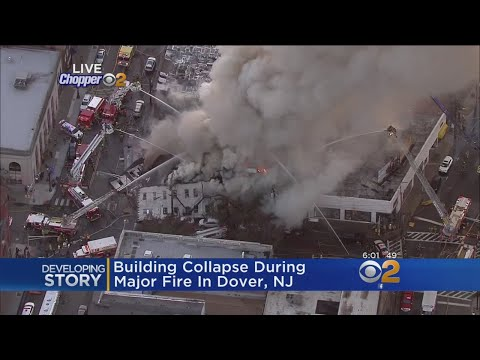 Massive Fire Causes N.J. Building Collapse