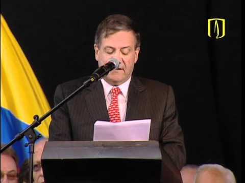 Uniandes - Discurso de posesión de Pablo Navas Sanz de Santamaría como rector de Los Andes