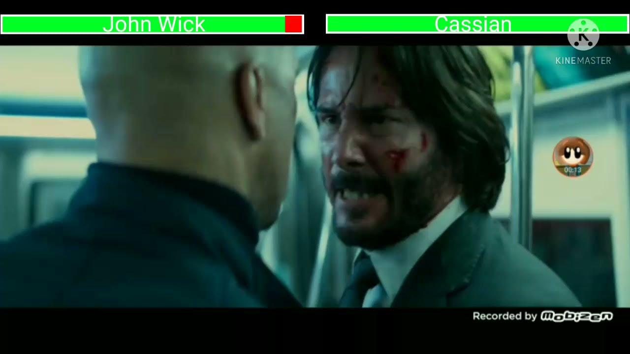 Download John Wick vs Cassian with healthbars second fight John Wick Chapter 2