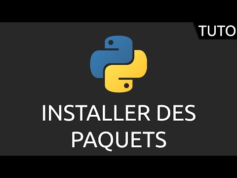 Tutoriel Python - installer packages (PIP)