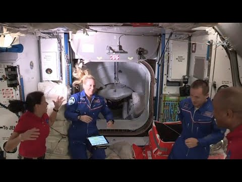 Luego de exitoso viaje de Space X los astronautas ingresaron a la Estación Espacial Internacional
