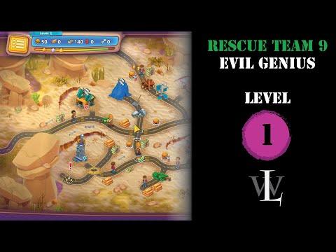 Rescue Team 9 - Evil Genius - Level 1 walkthrough |