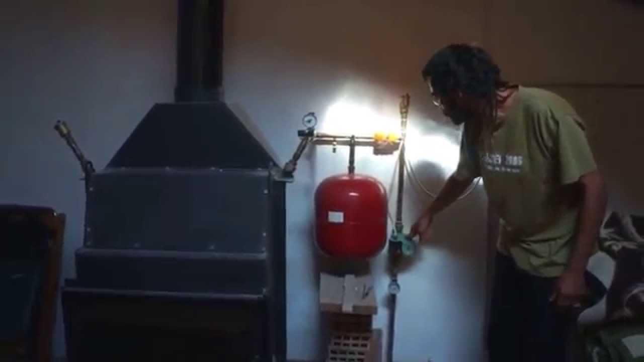 sistema de estufa de le a para calentar toda la casa 01