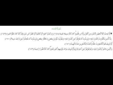 SURAH AN-NISA #AYAT 148-152: 12th August 2020