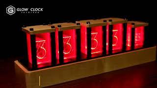 LED 거실 인테리어 RGB 빈티지 원목 DIY 시계 …