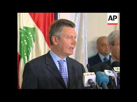 Belgian FM comments on UN force; Cypriot FM offers logistics help