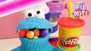 Play Doh Krümelmonster übertreibt – Aus der Play Doh Bonbonfabrik Deutsch – Es will zu viel Knete
