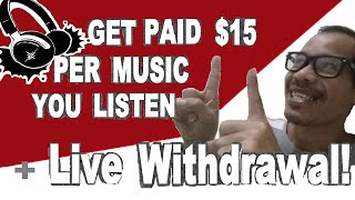 Download GET PAID $15 PER MUSIC PLAYLIST YOU LISTEN WITH LIVE WITHDRAWAL OF PAYOUT & STEP BY STEP TUTORIAL