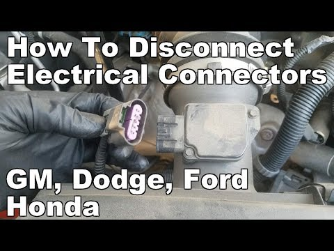 How to Disconnect Electrical Connectors GM/Chevy, Dodge
