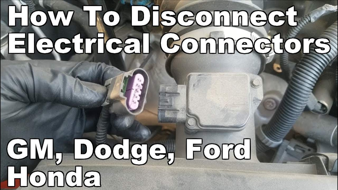 How To Disconnect Electrical Connectors Gm Chevy Dodge Chrysler Ford Honda