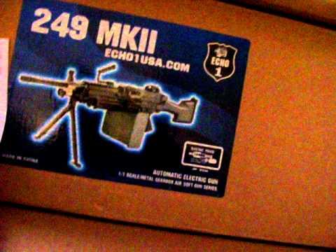 Evike Boneyard Unboxing Video.  M500 5round burst gas shotty and Echo1 M249