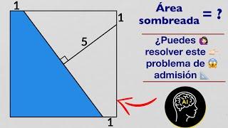 ¿Problema de admisión que deberías resolver en pocos pasos? | ☝🚶♂️👩