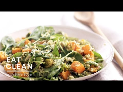 Roasted Butternut Squash Quinoa Bowl Eat Clean with Shira Bocar