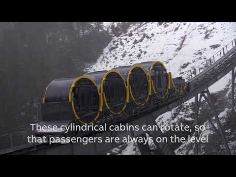 World's steepest funicular railway in the Swiss Alps - Unravel Travel TV