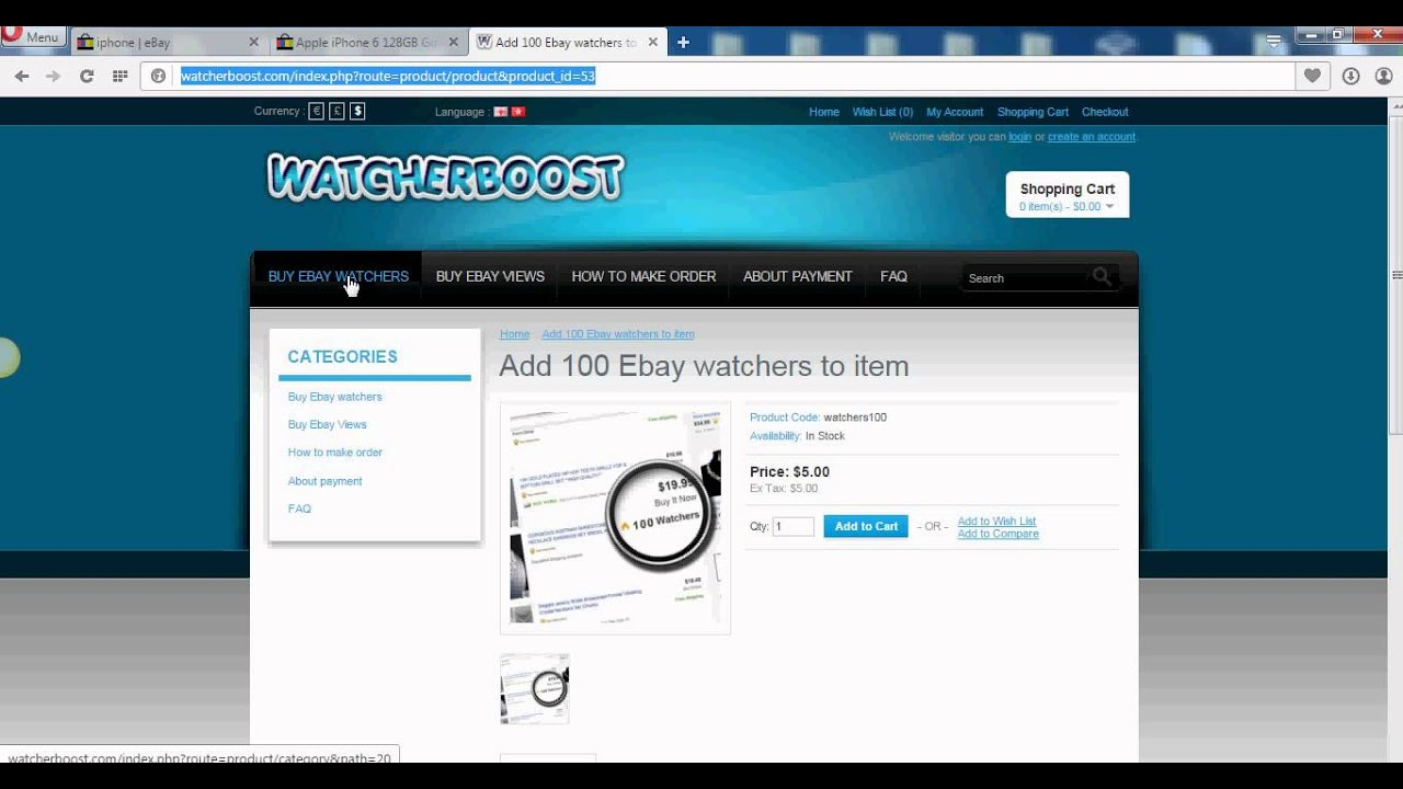 Ebay  How To Increase Watchers And Views By Using This Trick   Watcherboost  Youtube