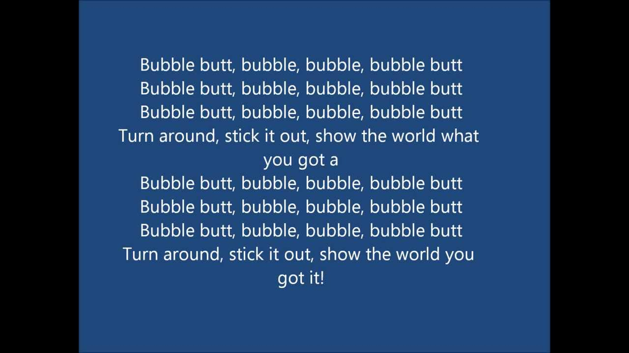 Bubble butt bubble-9216