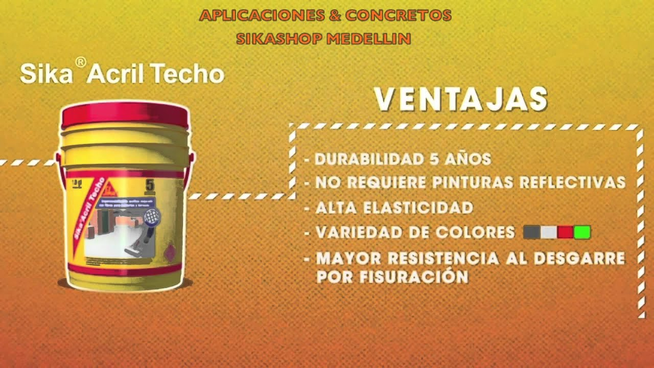 Sika acril techo youtube - Como pintar techos ...