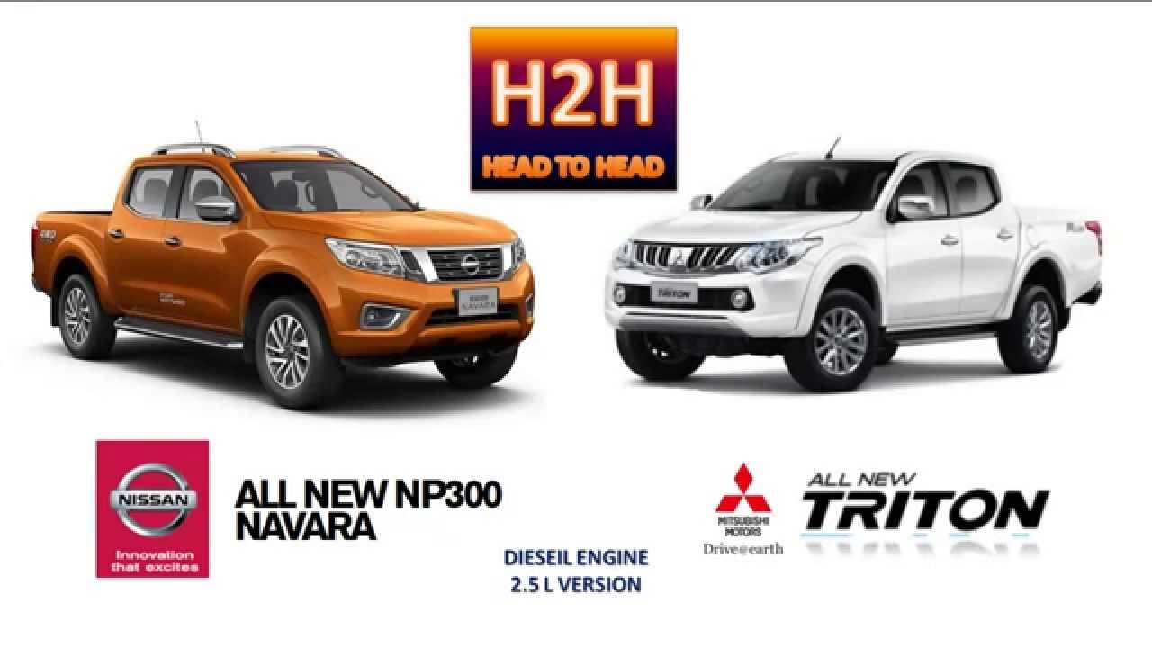 H2H #21 All New Nissan Navara vs All New Mitsubishi Triton ...