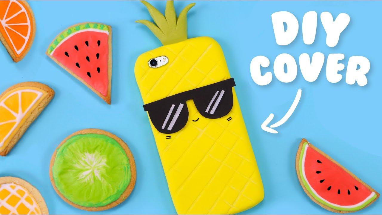 Cover Fai Da Te.2 Ingredients Diy Pineapple Phone Case How To Make A Phone Case At Home