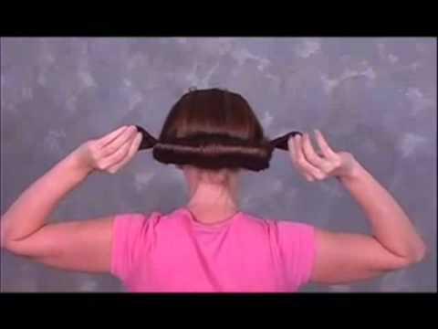 Как пользоваться заколкой твистер для волос видео