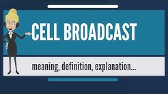 What is CELL BROADCAST? What does CELL BROADCAST mean? CELL BROADCAST meaning & explanation