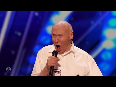 82 Year Old John Hetlinger Full Audition s Drowning Pools Bodies on Americas Got Talent