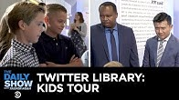 Kids Tour the Donald J. Trump Presidential Twitter Library | The Daily Show