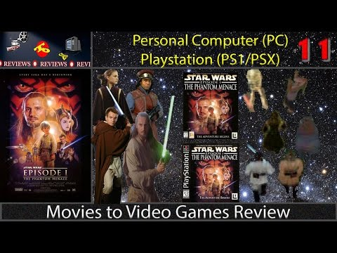 Movies to Video Games Review -- Star Wars Episode I : Phantom Menace (PS1 & PC)