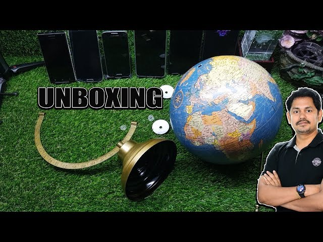 Antique Globe  / World Globe / Home Decor : UNBOXING  in Telugu ~ Tech-Logic