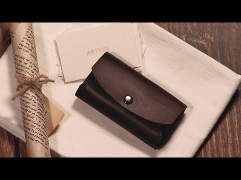쉽게 알려주는 가죽공예, 명함지갑 만들기/DIY 키트/DIY kit/Business Card Wallet