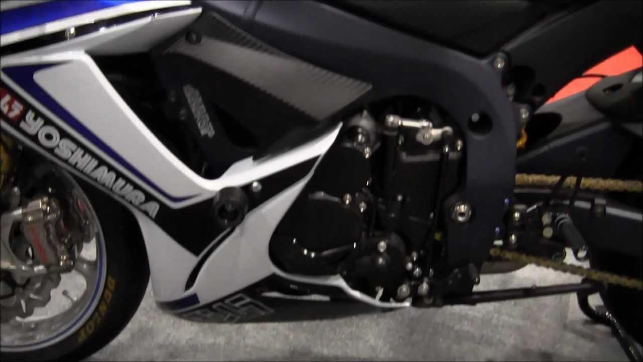 2013 Suzuki GSXR 750 Customized w/ Yoshimura Exhaust, Frame Slider ...