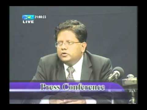 BUDGET 2013 Press Conference with Finance Minister Ashni Singh