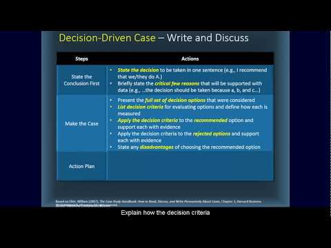 How To Analyze A Business Case Study