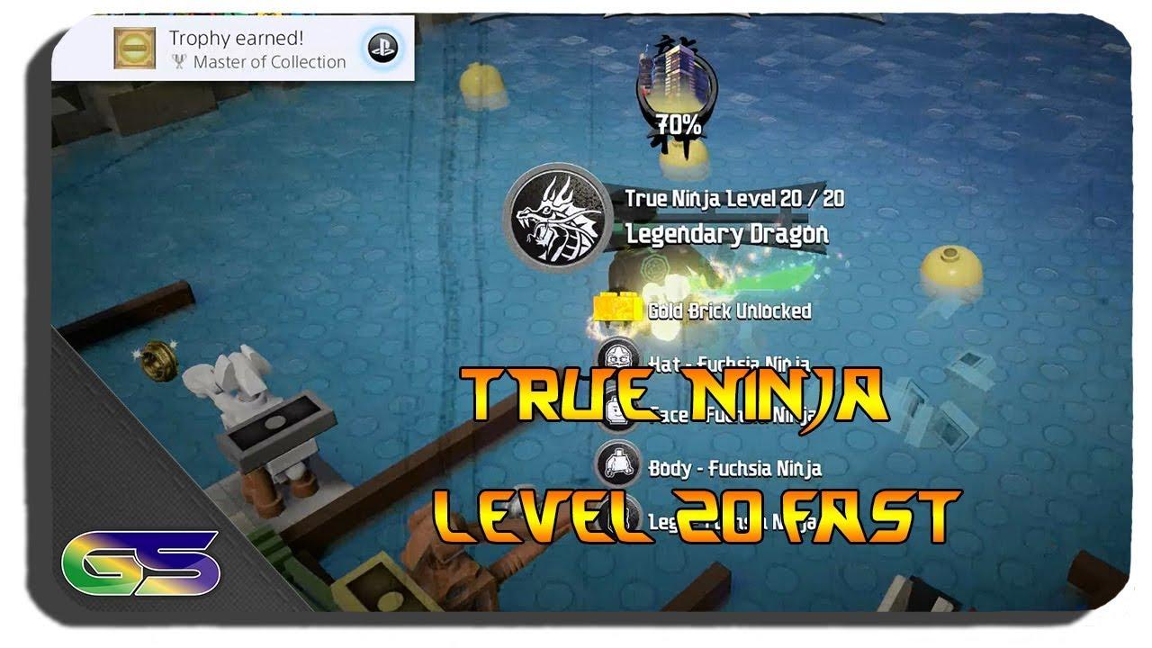 Lego Ninjago Movie Video Game How to get Legendary Dragon True Ninja Level  to 20 Fast - YouTube