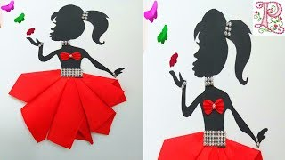 Wall decoration Girl with beautiful dress    Home decoration ideas    DIY Room Decoration ideas