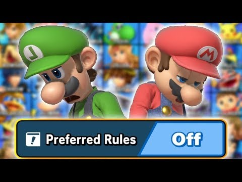 I Turned Off Preferred Rules on Smash Ultimate - YouTube
