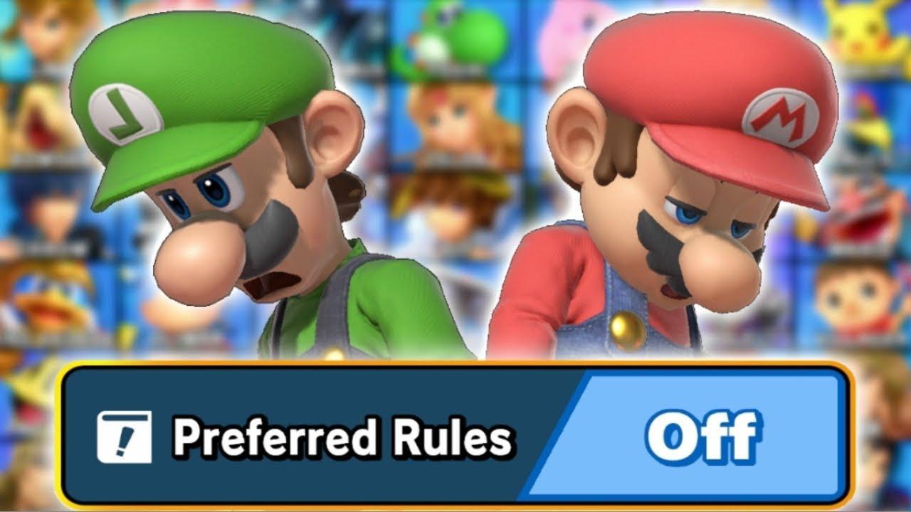 I Turned Off Preferred Rules on Smash Ultimate