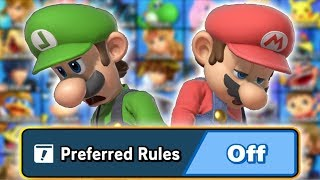 I Turned Off Preferred Rules on Smash Ultimate