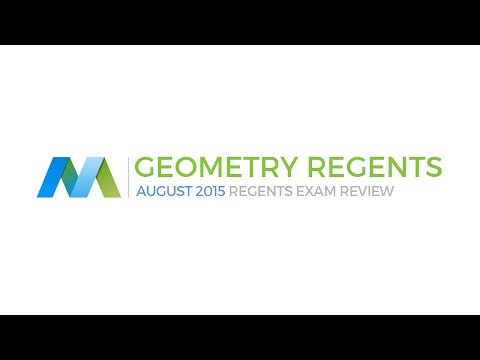 Geometry Common Core Regents August 2015 NYS - Questions and Answers
