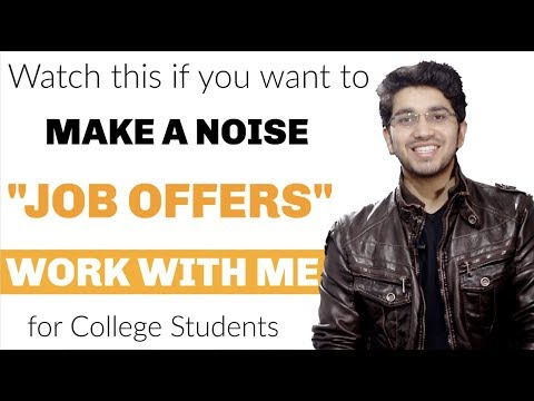 Work with me for a cause | Job offers for College Students