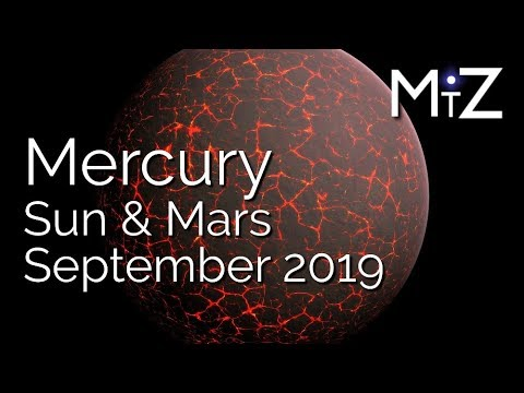 Mercury Conjunct Sun & Mars Tuesday September 3rd 2019 - True Sidereal  Astrology