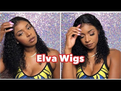 Elva Hair Aliexpress Wig Review  NYUWA  This Bomb Water Wave Curly  Lace Front Wig